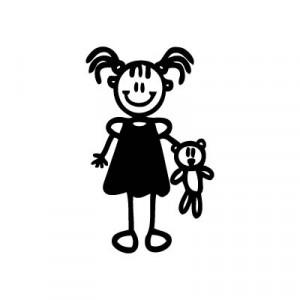 Bambina con orsacchiotto