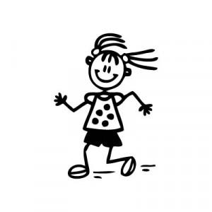 Bambina che corre