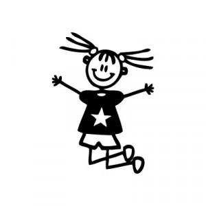 Bambina che salta