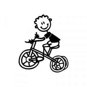 Bambino con triciclo - Adesivi Famiglia