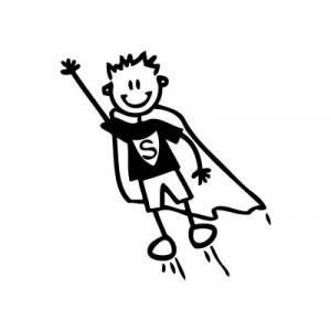 Bambino supereroe - Adesivi Famiglia