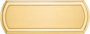 CL - Targa da porta sagomata ottone satinato bordo lucido