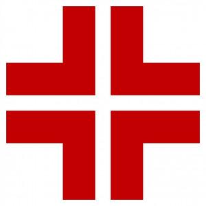 Adesivo croce rossa, pronto soccorso ed infermerie