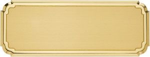 FL - Targa da porta sagomata ottone satinato bordo lucido