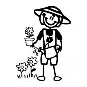 Mamma giardiniera - Adesivi Famiglia