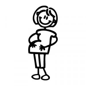 Mamma col pancione - Adesivi Famiglia