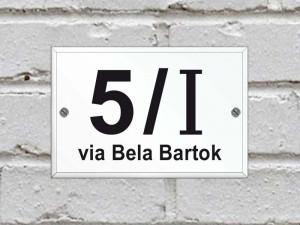 Numero Civico in Plexiglas - Modello standard