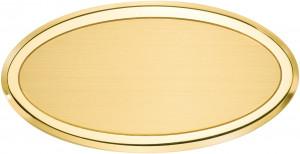 OL - Targa da porta ovale ottone satinato bordo lucido
