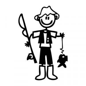 Papà pescatore - Adesivi Famiglia