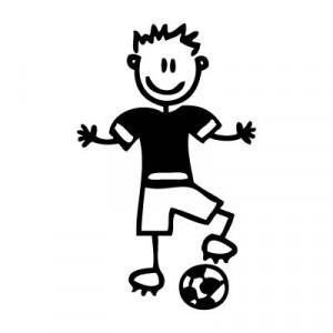 Papà calciatore - Adesivi Famiglia