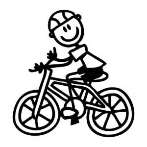 Papà in bicicletta - Adesivi Famiglia