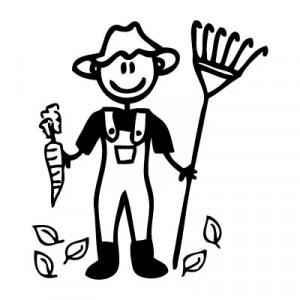 Papà giardiniere - Adesivi Famiglia