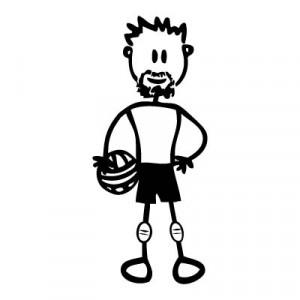 Papà pallavolista - Adesivi Famiglia