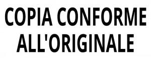 "Impronta ""Copia conforme all'originale"""