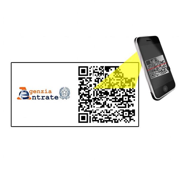 Etichette adesive QR Code Agenzia delle Entrate