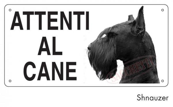 Attenti al cane Shnauzer