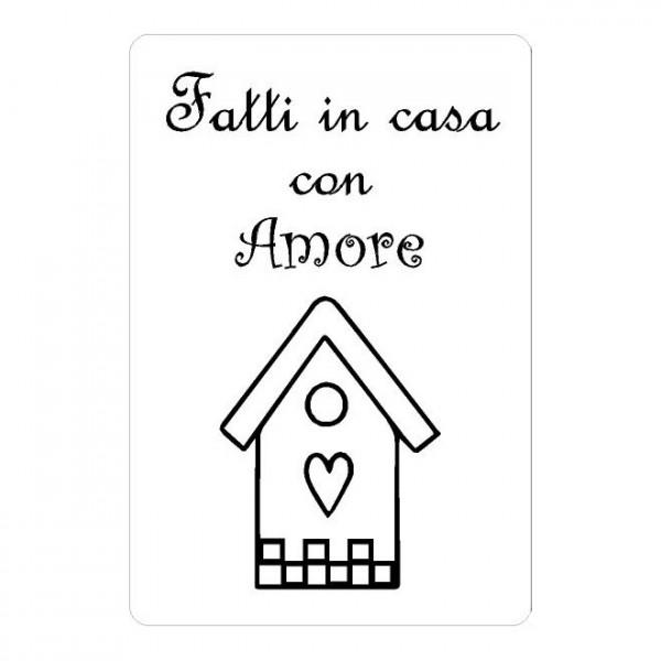 """Adesivo """"Fatti in Casa con Amore"""""""