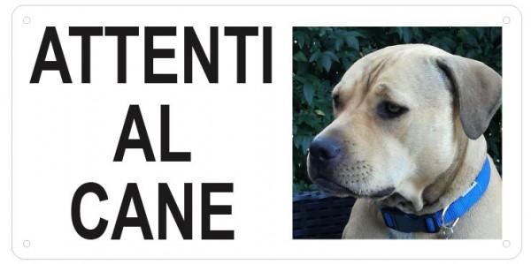 """Cartello """"Attenti al Cane"""" (personalizzato)"""