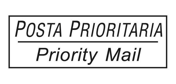 Timbro Posta Prioritaria