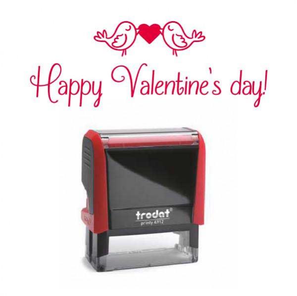 "Timbro ""Happy Valentine's Day!"""