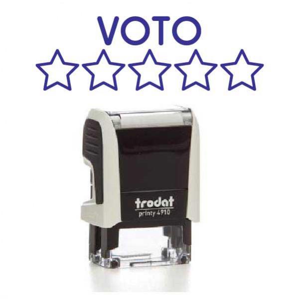 """Timbro """"Voto da 1 a 5 stelle"""""""