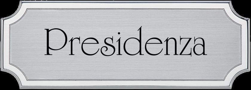 ADL - Targa da porta sagomata alluminio satinato bordo lucido verniciato