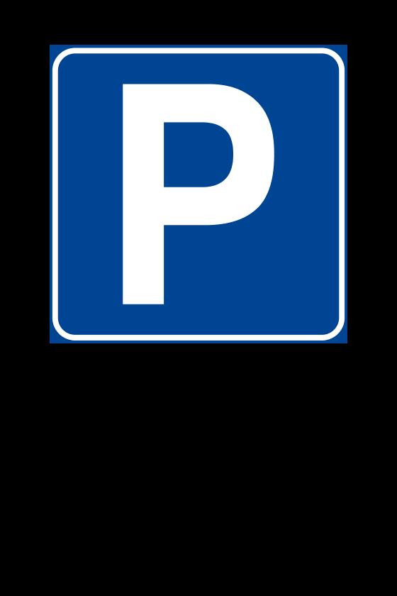 """Cartello """"Parcheggio Riservato"""" 20x30 cm (Personalizzabile)"""