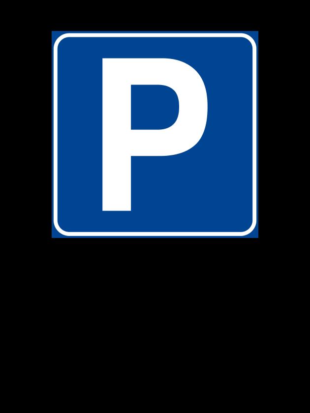 """Cartello """"Parcheggio Riservato"""" 30x40 cm (Personalizzabile)"""