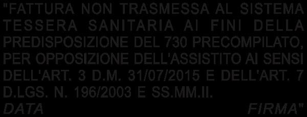 Timbro per opposizione alla trasmissione al sistema TS (medio)