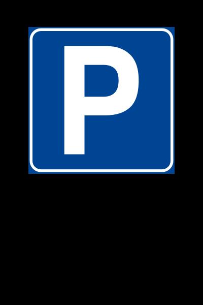 """Cartello """"Parcheggio Riservato"""" 30x45 cm (Personalizzabile)"""