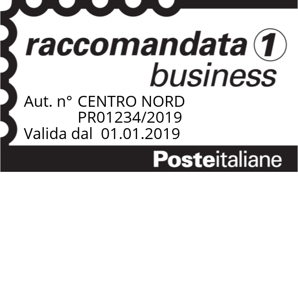 Timbro Posta Raccomandata 1 Business