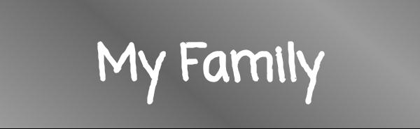 """Adesivo """"La mia Famiglia"""" / """"My Family"""""""
