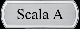 ACL - Targa da porta sagomata alluminio satinato bordo lucido verniciato