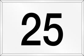 Numero civico in plexiglass standard
