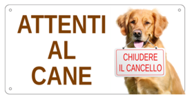 AC006 - Cane con cartello