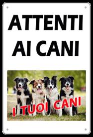 """AC016 - """"Attenti ai cani"""" con foto personalizzata"""