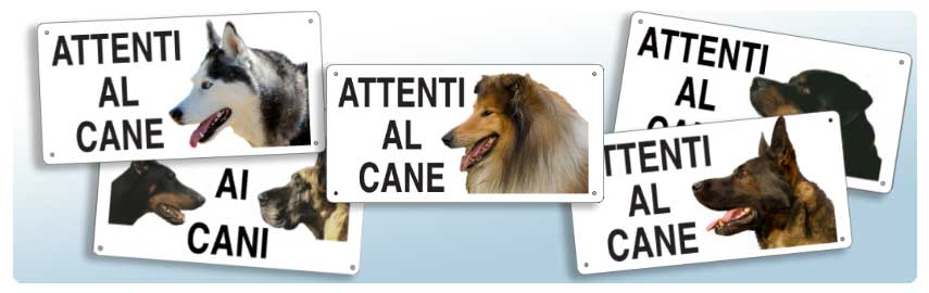 Cartelli per animali