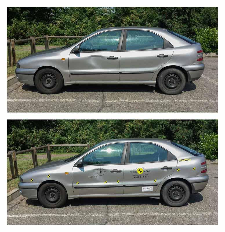 """Kit di adesivi per auto """"Crash Test EURO NCAP"""" su Fiat Brava"""