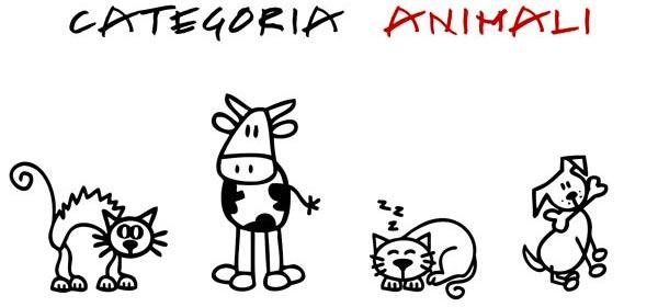 Adesivi Famiglia - Categoria degli animali
